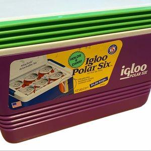 Igloo Polar Six 1997 Holds 6 Cans Mini Cooler